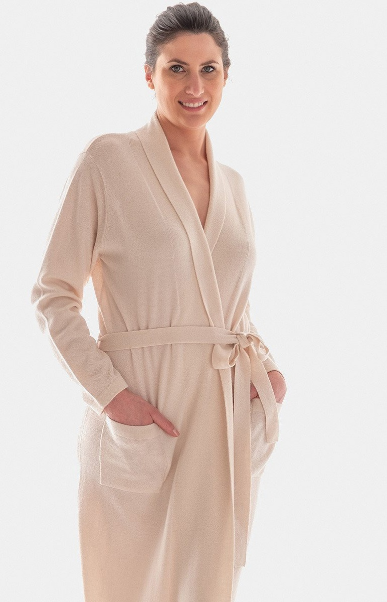 Cashmere and Wool Long Kimono Dressing Gown in Many Colours...