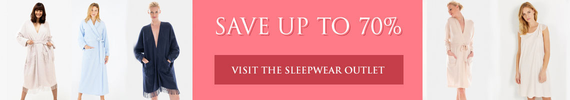 Save up to 70% in our Nightwear Outlet