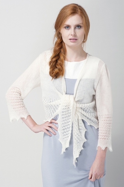 Lacy Double Knitted Ballet Wrap Wool Bed Jacket