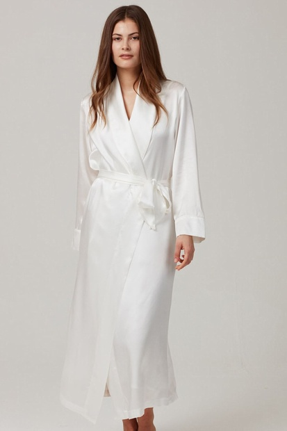 Pearl Pure Silk Long Robe