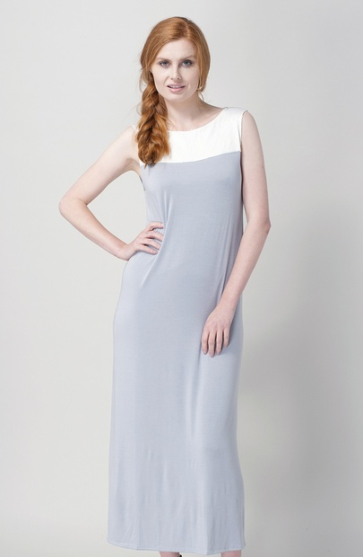 Long Sleeveless Modal Jersey Nightgown